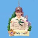 Boy Scout Ornament for Personalization