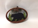 Wooden Black Bear Ornament
