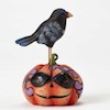 Jim Shore Mini Crow on Jack-O-Lantern