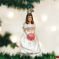 Bride - Brunette Old World Ornament
