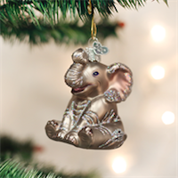 Little Elephant Old World Ornament