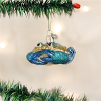Blue Crab Old World Ornament