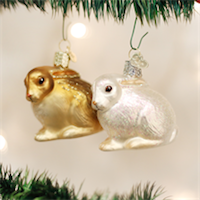 Cottontail Bunny Old World Ornament