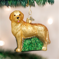 Golden Retriever Old World Ornament