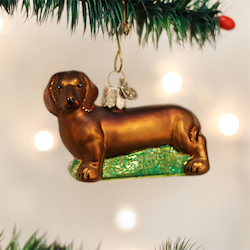 Dachshund Old World Ornament
