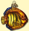 Flame Angel Fish Old World Ornament