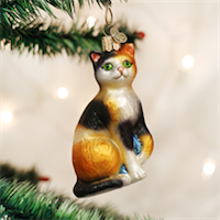 Calico Cat Old World Ornament