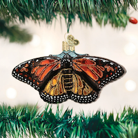 Monarch Butterfly Old World Ornament