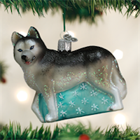 Siberian Husky Old World Ornament