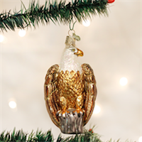 Bald Eagle Old World Ornament