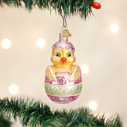 Easter Chick Old World Ornament