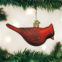 Northern Cardinal Old World Ornament