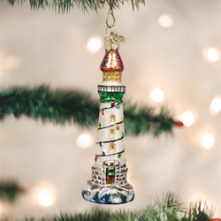 Holiday Lighthouse Old World Ornament
