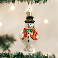 Mr. Frosty Snowman Old World Ornament