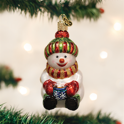 Snowman with Cocoa Old World Ornament