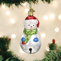 Jingle Bell Snowman Old World Ornament