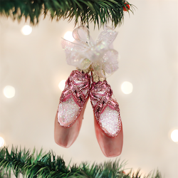 Pair of Ballet Slippers Old World Ornament