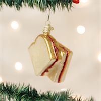 Peanut Butter & Jelly Sandwich Old World Ornament