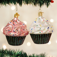 Chocolate Cupcake Old World Ornament