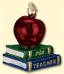 Teacher's Apple Old World Ornament