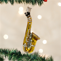 Saxophone Old World Ornament