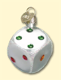 Dice Old World Ornament
