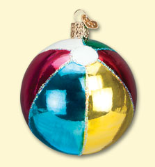 Beach Ball Old World Ornament