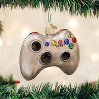 Video Game Controller Old World Ornament