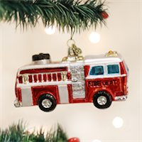 Fire Truck Old World Ornament
