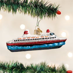 Cruise Ship Old World Ornament