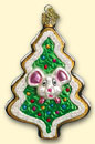 Christmas Cookie Mouse Old World Ornament