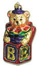 Jack in the Box Bear Old World Ornament